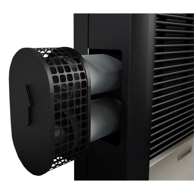 Calefactor Coppens C25ac Peltre Acero 2500 Tb Derecho + Lateral
