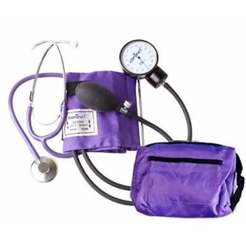 Tensiómetro Coronet Hs50a Aneroide Con Estetoscopio (Violeta)