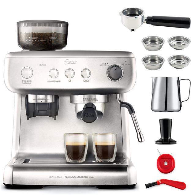 Cafetera Express Oster Bvstem7300 Barista Max Molinillo