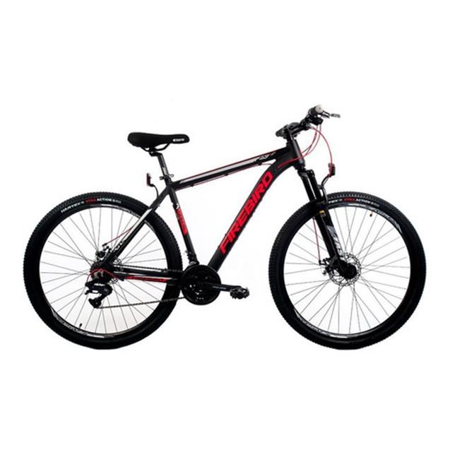 Bicicleta Halley Fire Bird Mountain Bike Rodado 29 21V T20 Negra/Roja (BIN29-21ECO)
