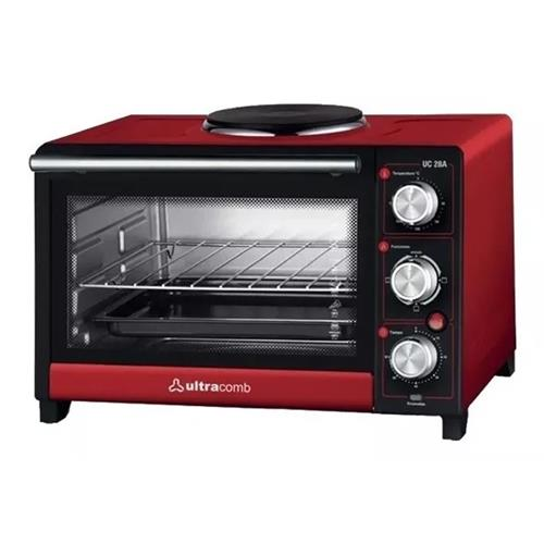 Horno Electrico Ultracomb 28lts Grill/Anafe (Uc28a)