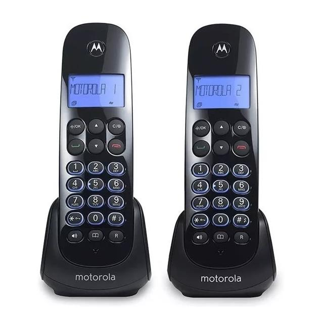 Telefono Inalambrico Doble Motorola Contestador Mom750ce-2 Negro