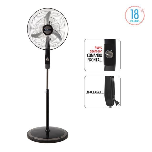 "Ventilador Liliana Vpc18m 18"" Comando Frontal/Asp. Metal"