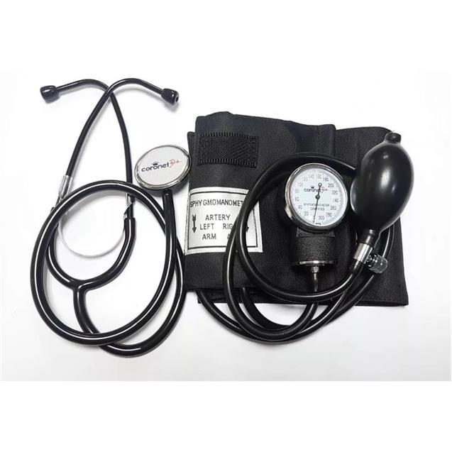 Tensiometro Coronet Aneroide Negro Estuche (Hs50a)