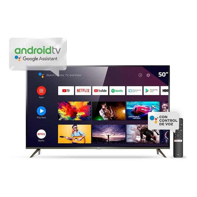 "Smart Tv Tcl 50"" 4k Android Metalico (L50p8m)"