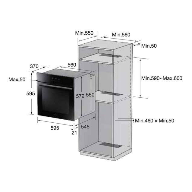 Horno Electrico Empotrable Samsung 70 lts (nv70k1340bb)