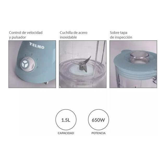 Licuadora Yelmo 650w 1.5 Lts (Lc1009)