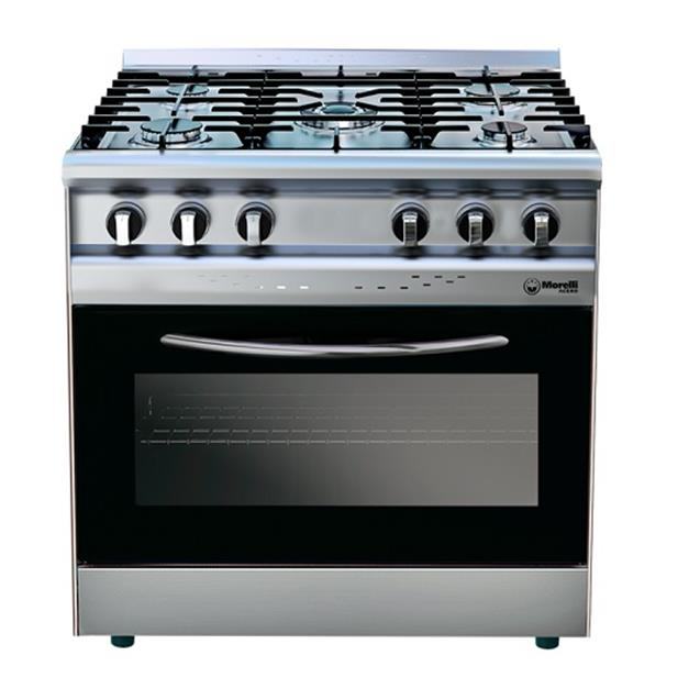 Cocina Morelli 820 5 Hornallas 82 cm Acero