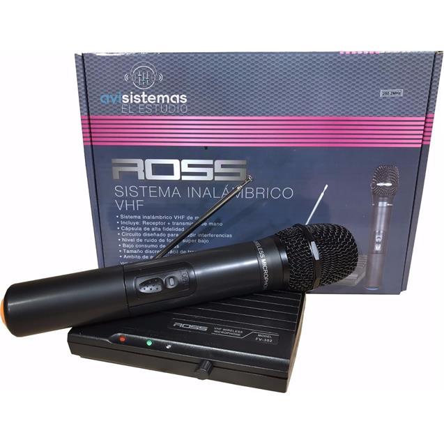 Microfono Ross Inalambrico Hi Fi (PA FV302)
