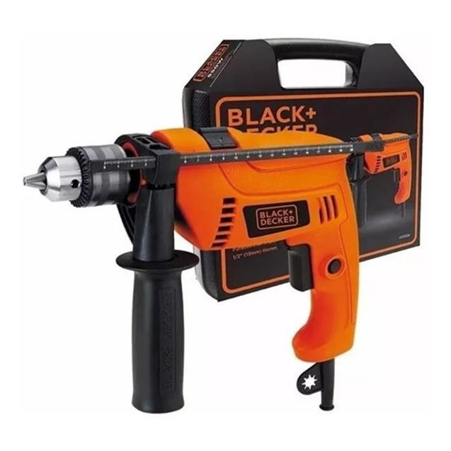 Taladro Black & Decker Percutor 550w 13mm Maletin (Hd555k)