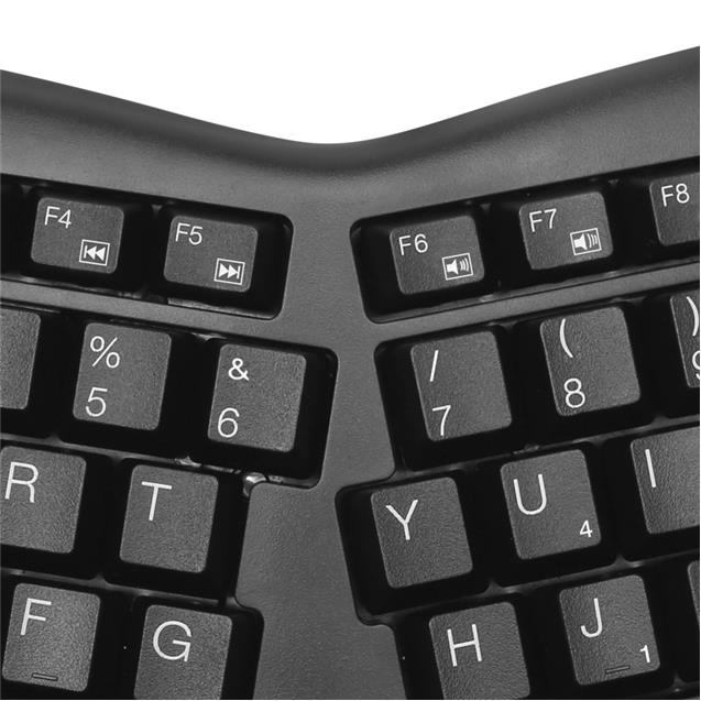 Combo Teclado Y Mouse Klipxtreme Kbk-510 Wireless Ergonomico