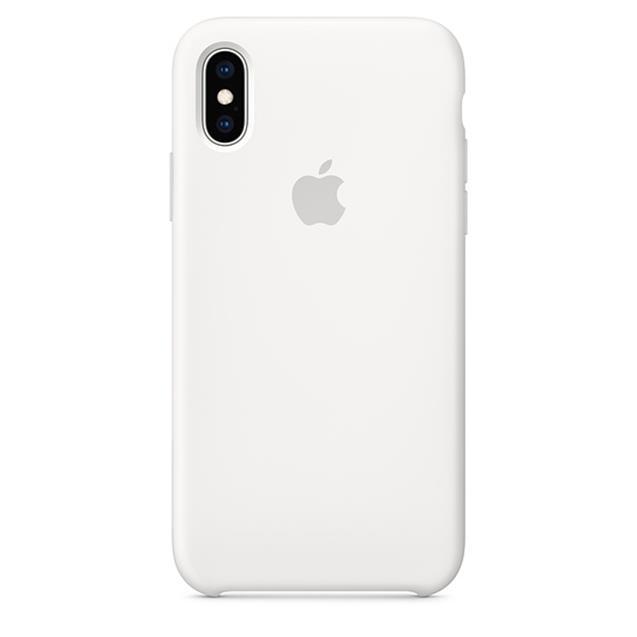 Funda Iphone XS MAX Silicona Blanca Original