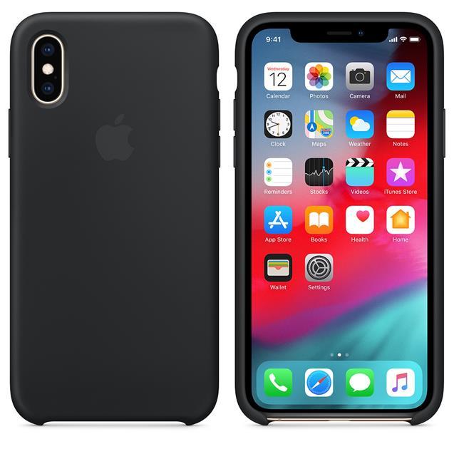 Funda Iphone XS Silicona Negra Original