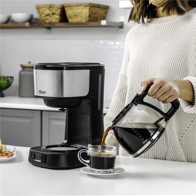 Cafetera Oser (dc10ss) 8 Tazas Programable Filtro Permanente
