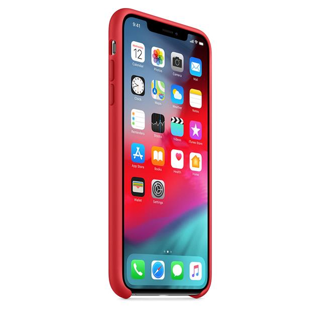 Funda Iphone XS Silicona Roja Original