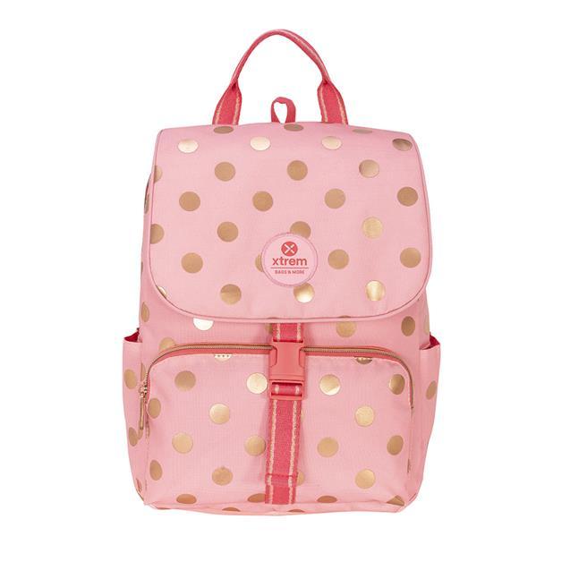 Mochila Xtrem Flap Pink/Rose Gold