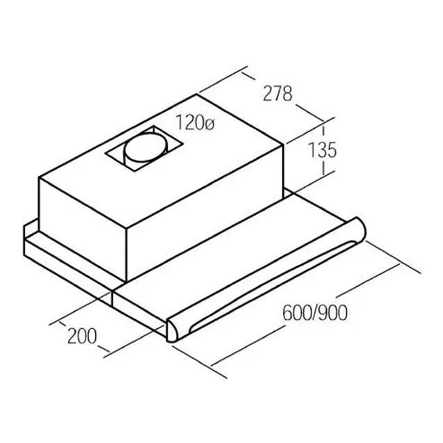 Purificador Cata Tf5260 Fte. Inox Deslizable