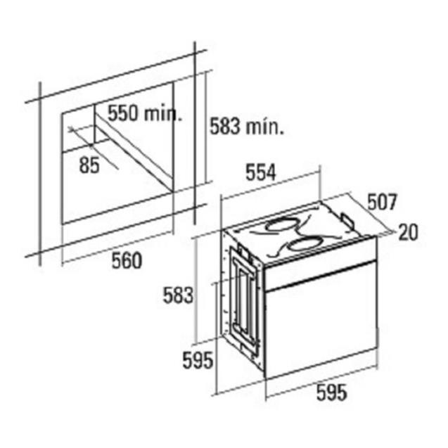 Horno Eléctrico Cata de Empotrar (Me6206x)