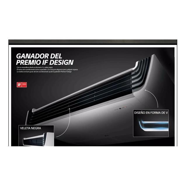 Split Lg Techo 15000 Fg Frio Calor 5tr Inverter