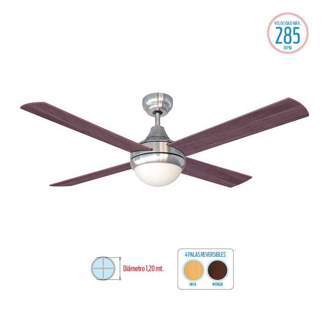Ventilador De Techo Liliana (Vthm314) Reversible Wengue-Haya