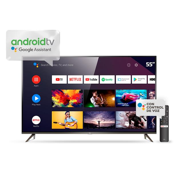 "Smart Tv Tcl 55"" (L55p8m) 4k Android Metálico"