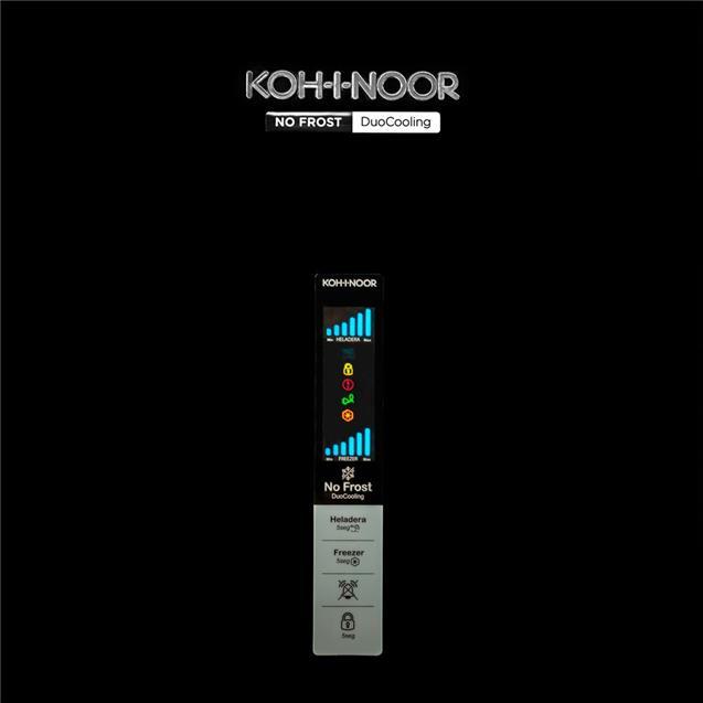 Heladera Kohinoor No Frost 417 lts Negro (Khgb41d/8)