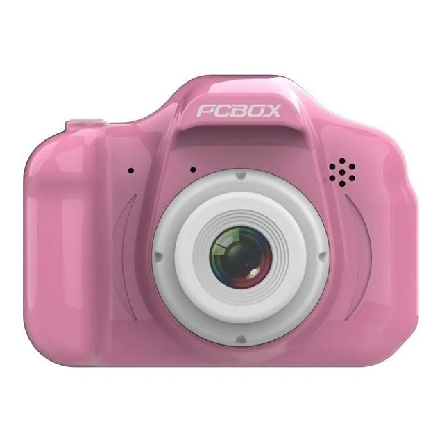 "Camara Digital Pcbox Click Display 2"" - Foto 3264x2446 - Video Fhd Rosa"