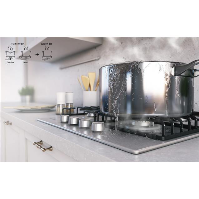 Anafe Samsung (Na64h3010as) 60cm 4 Hornallas A Gas INOX