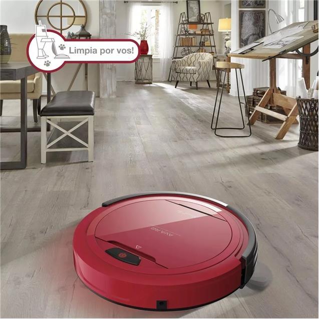 Aspiradora Robot Smart-Tek Ava R2 Rojo/Negro