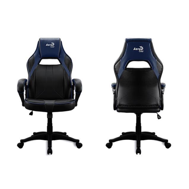 Silla Gamer Ergonómica Aerocool Negro y Azul Ac40c Air