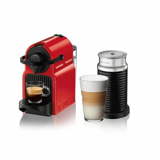 Cafetera Nespresso Inissia Red 0.7 Lts + Aeroccino3