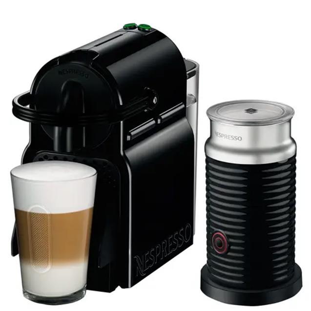 Cafetera Nespresso Inissia Black 0.7 Lts + Aeroccino3
