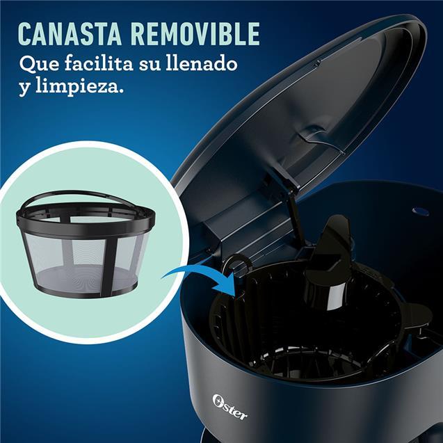 Cafetera Oster Dsc12b Filtro 12 Tazas Negro