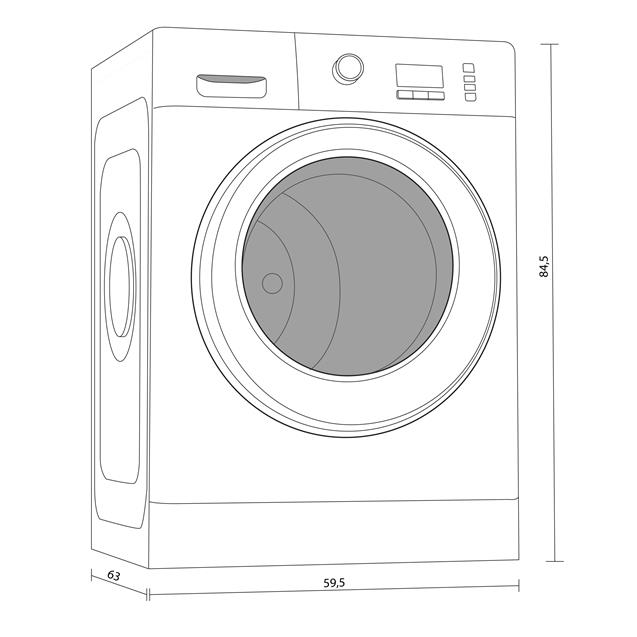 Lavarropas Whirlpool Wlf91ab 9kg 1200 Rpm Inverter
