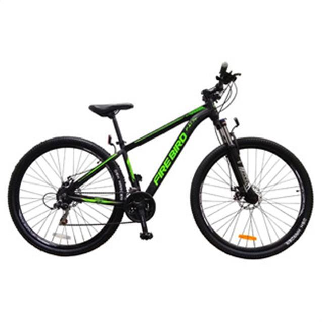 "Bicicleta Halley Firebird Mountain Bike 29"" Aluminio 21V T20 Negro/Verde (BIN2921ECO)"