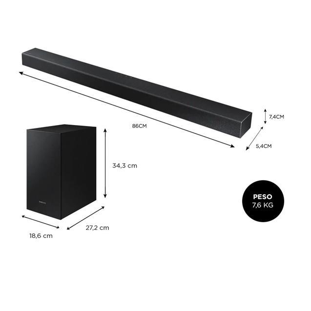 Barra De Sonido Samsung Hwt420/Zb 150w 2.1 Black