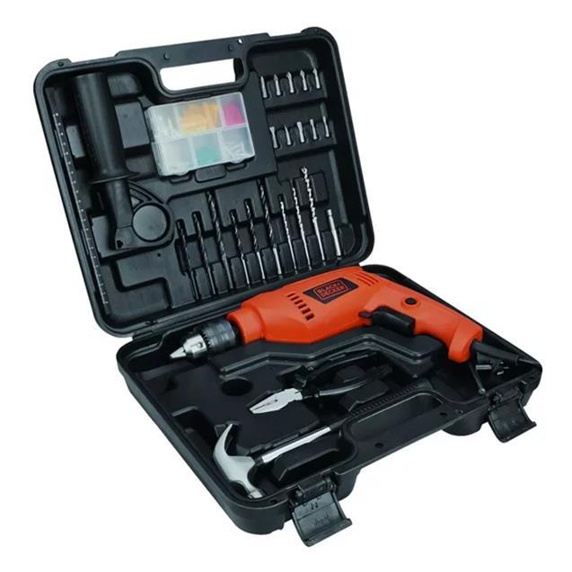 Taladro Black & Decker Percutor 550w 13mm Maletin con Acc (Hd555k88)