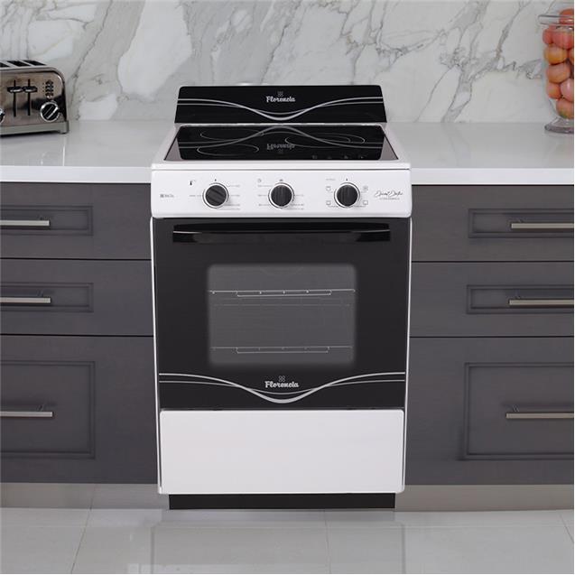 Cocina Eléctrica Florencia 8636 Vitro Blanca