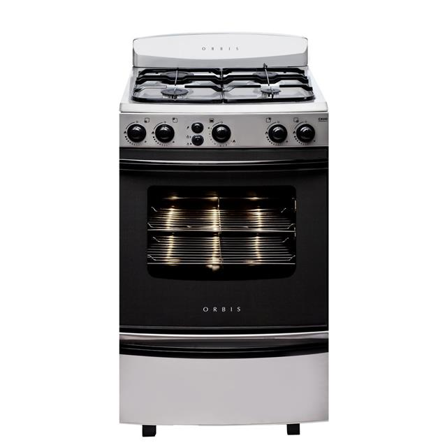 Cocina Orbis 958ac3 55cm Luz Encendido Horno Autolimpiante Acero