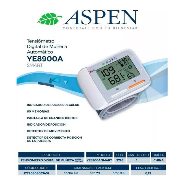 Tensiometro Aspen Ye8900a Digital Automatico Muñeca