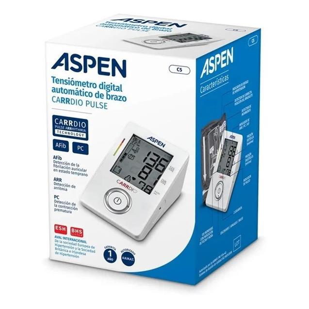 Tensiometro Aspen C5 Cardio De Brazo - Afib/Pc/Arr