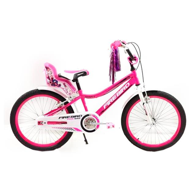 Bici Firebird Binfb20n R20 Acero Honey Rosa y Blanco