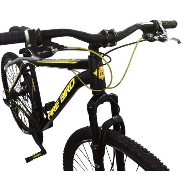 "Bici Firebird Hawk Mtb 29"" 24v T20 Negro y Amarillo"