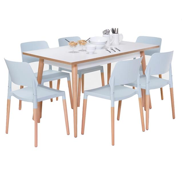 Mesa Vahume Icon 160x080 Blanco Tiza (no incluye sillas)