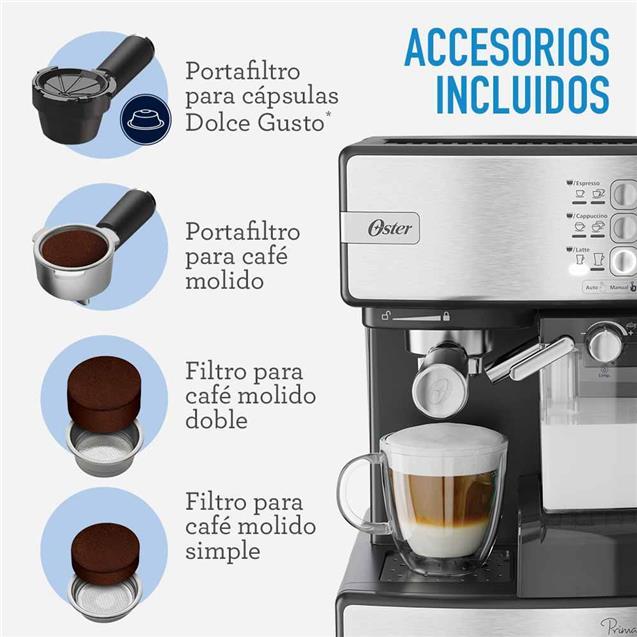 Cafetera Express Oster Em6603ss  15 Bares Inox