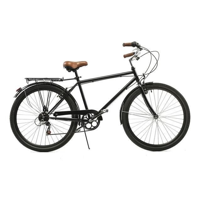 Bici Halley  Vintage R26 6 velocidades con Portaequipaje Negro (19105-6vh)