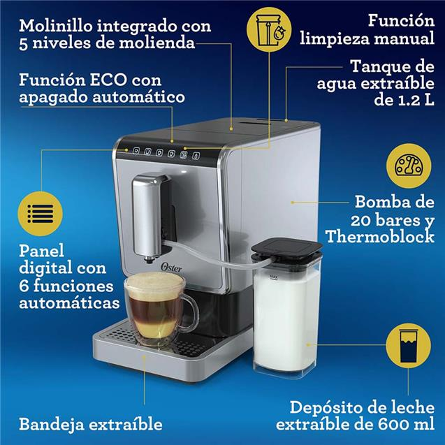 Cafetera Express Bvstem8100-054 C/Molinillo Depósito De Leche / 20 Bars / 1.2 Lts