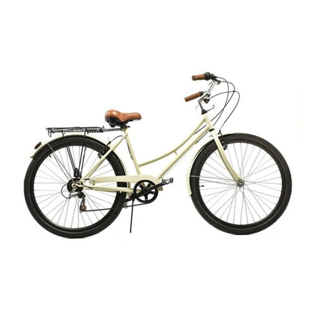 Bicicleta Halley Vintage R26 6 Velocidades Con Portaequipaje Natural (19105-6v)