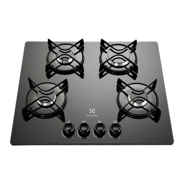 Anafe Electrolux Gc60v 60cm/Gas/4 Hornallas/Negro