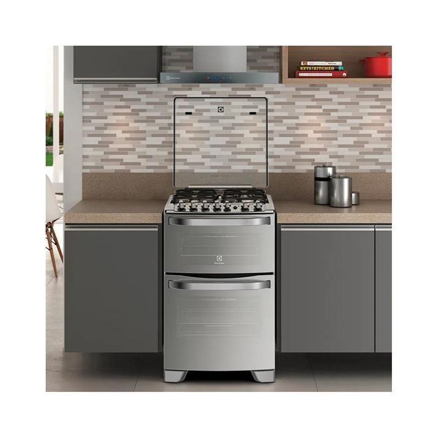 Cocina Electrolux 56cm Acero Doble Horno Electrica/Gas (56dxq)